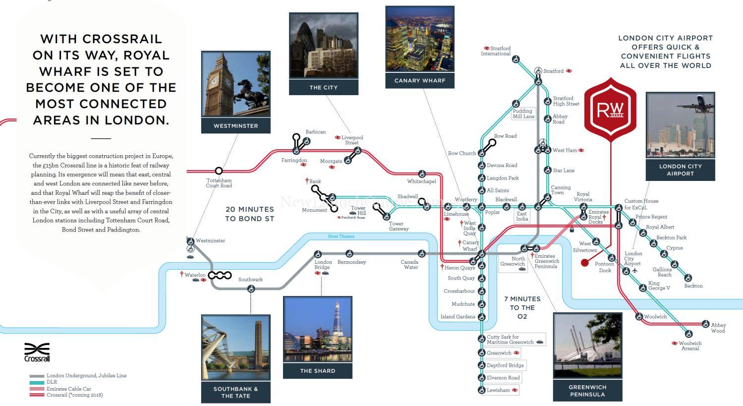 Royal Wharf London - Crossrail 2018 completion