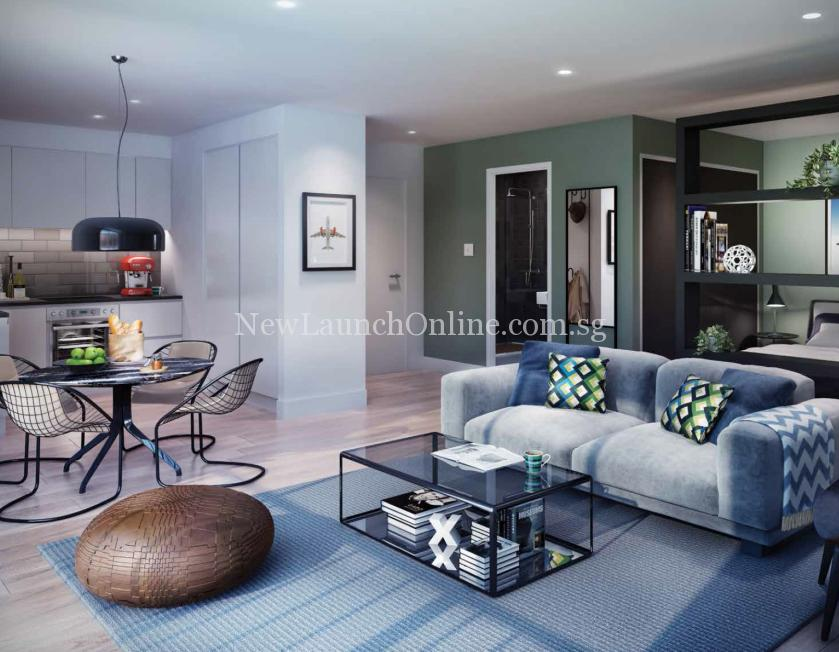 Royal Wharf London Living Room Artist Impression