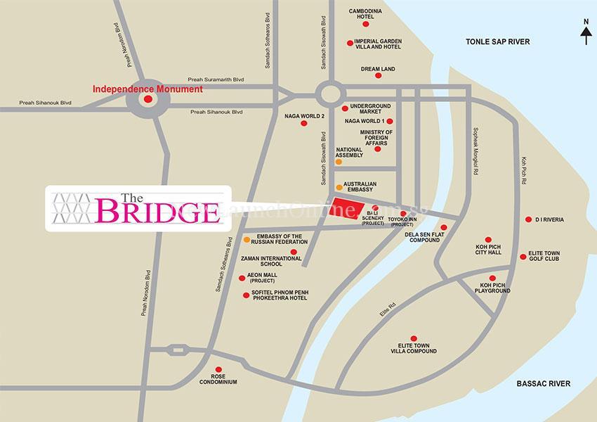 The Bridge Cambodia Location Map