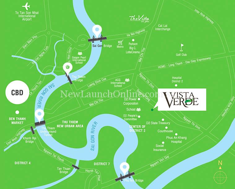 Vista Verde Vietnam Location Map