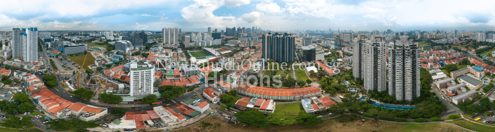 360 degree aerial day view of Sturdee Residences