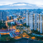 360 degree aerial night view of Sturdee Residences