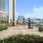 Indoor and outdoor gym at level 14 of Sturdee Residences