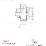 Stars of Kovan 1 bedroom floor plan type a2
