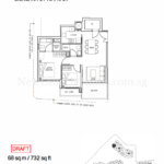 Stars of Kovan 2 bedroom floor plan type b2