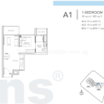 Sturdee Residences 1 bedroom floor plan
