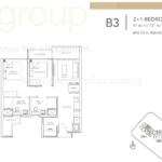 Sturdee Residences 2+Study floor plan