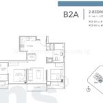 Sturdee Residences 2 bedroom 657sqft floor plan