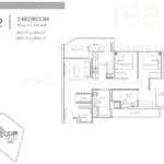 Sturdee Residences 3 bedroom floor plan