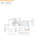Sturdee Residences 4 bedroom floor plan