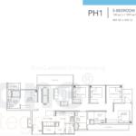 Sturdee Residences 5 bedroom penthouse floor plan