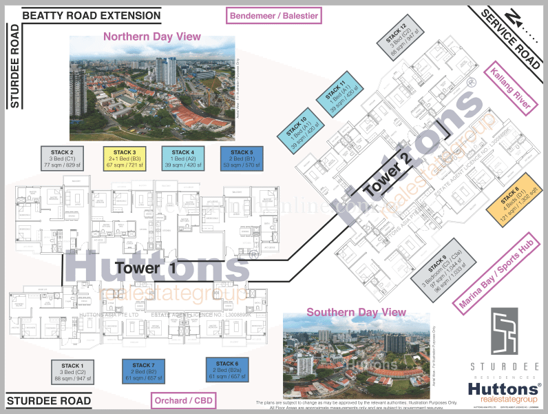 Sturdee Residences Site Plan with layout