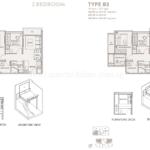 The Asana 2 Bedroom Floor Plan with furniture deck