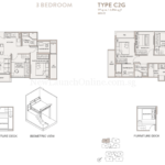 The Asana 3 Bedroom Floor Plan