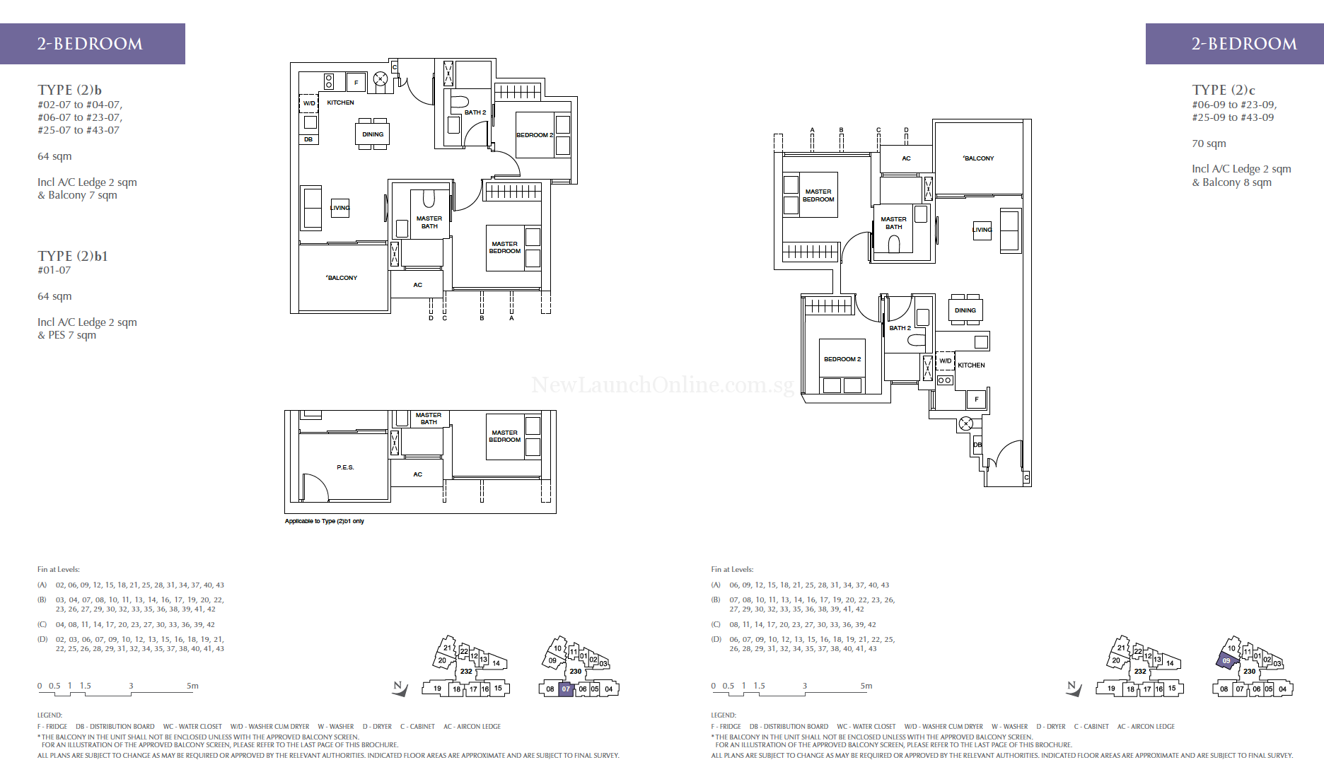 Commonwealth Towers 2 bedroom floor plan