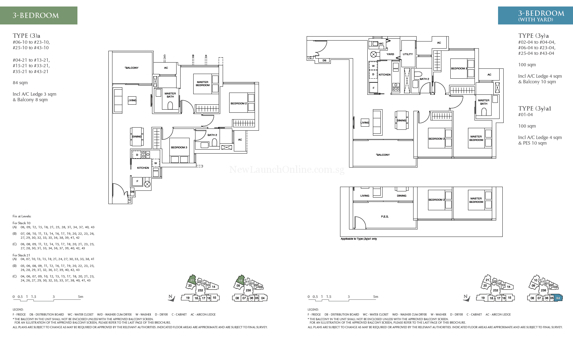 Commonwealth Towers 3 bedroom floor plan