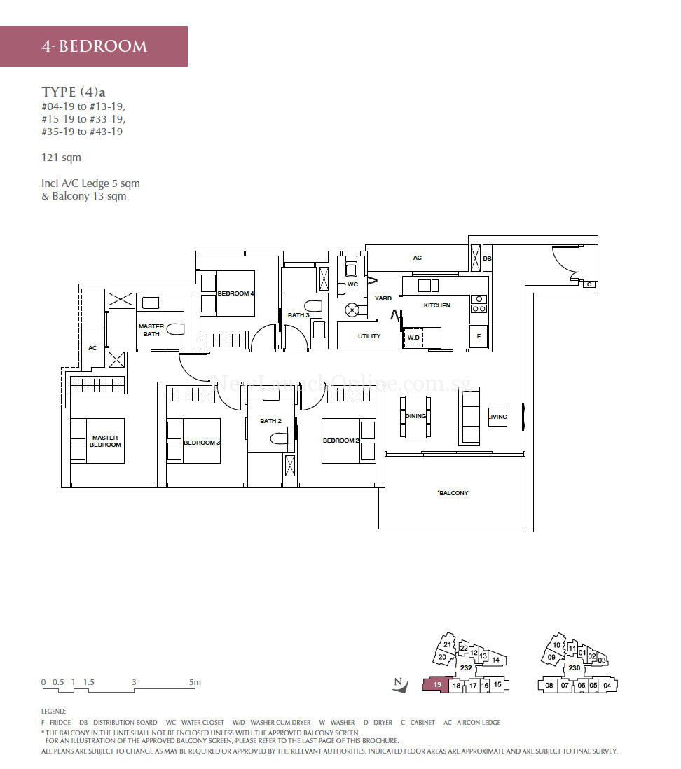 Commonwealth Towers 4 bedroom floor plan