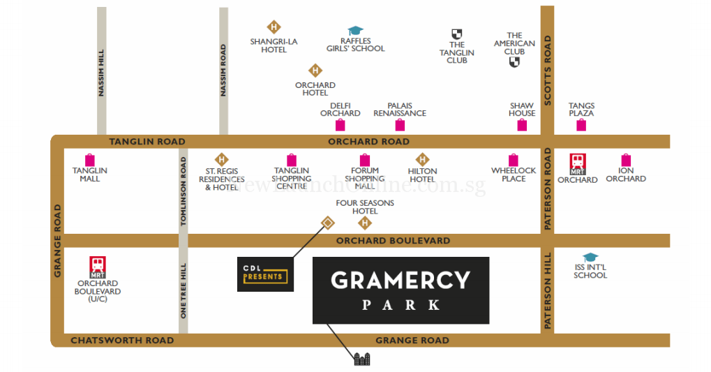 Gramercy Park Location Map