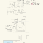 Three Balmoral Floor Plan - 3 Bedroom Penthouse with Study (3A)