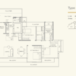 Three Balmoral Floor Plan - 3 Bedroom Type 3B