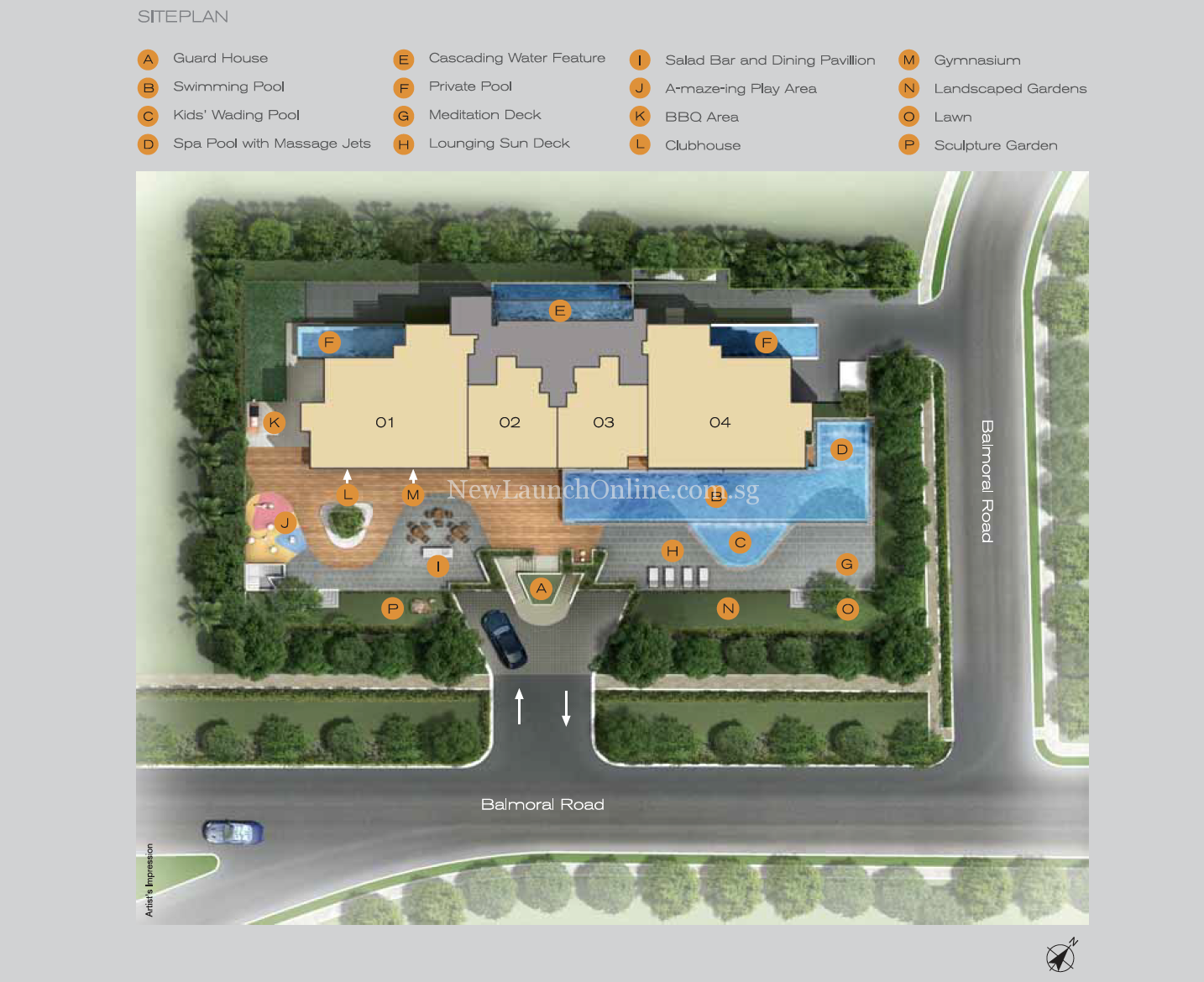 Three Balmoral Site Plan