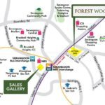 forest woods location and showflat location