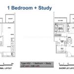 Alps residences 1+Study showflat floor Plan