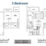 Alps residences 3 bedroom showflat floor Plan