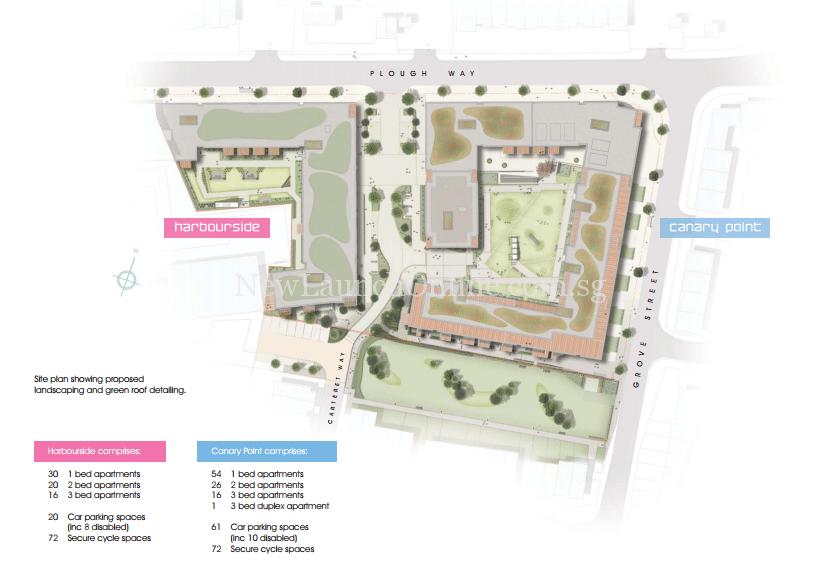 Marine Wharf East Site plan