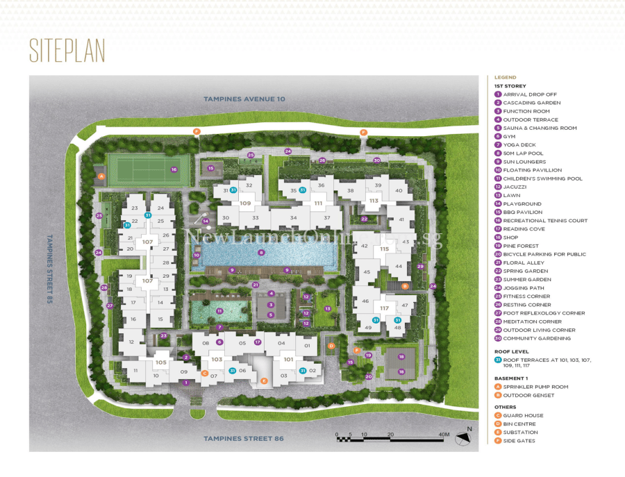 The Alps Residences Site Plan