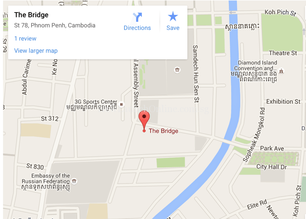 The Bridge Retail Mall Google Map
