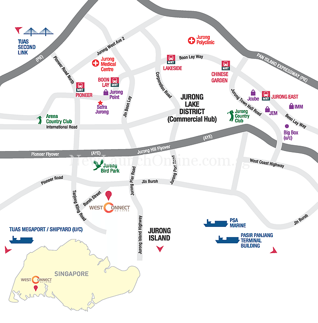 West Connect Building location map