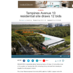 Tampines Avenue 10 residential site draws 12 bids