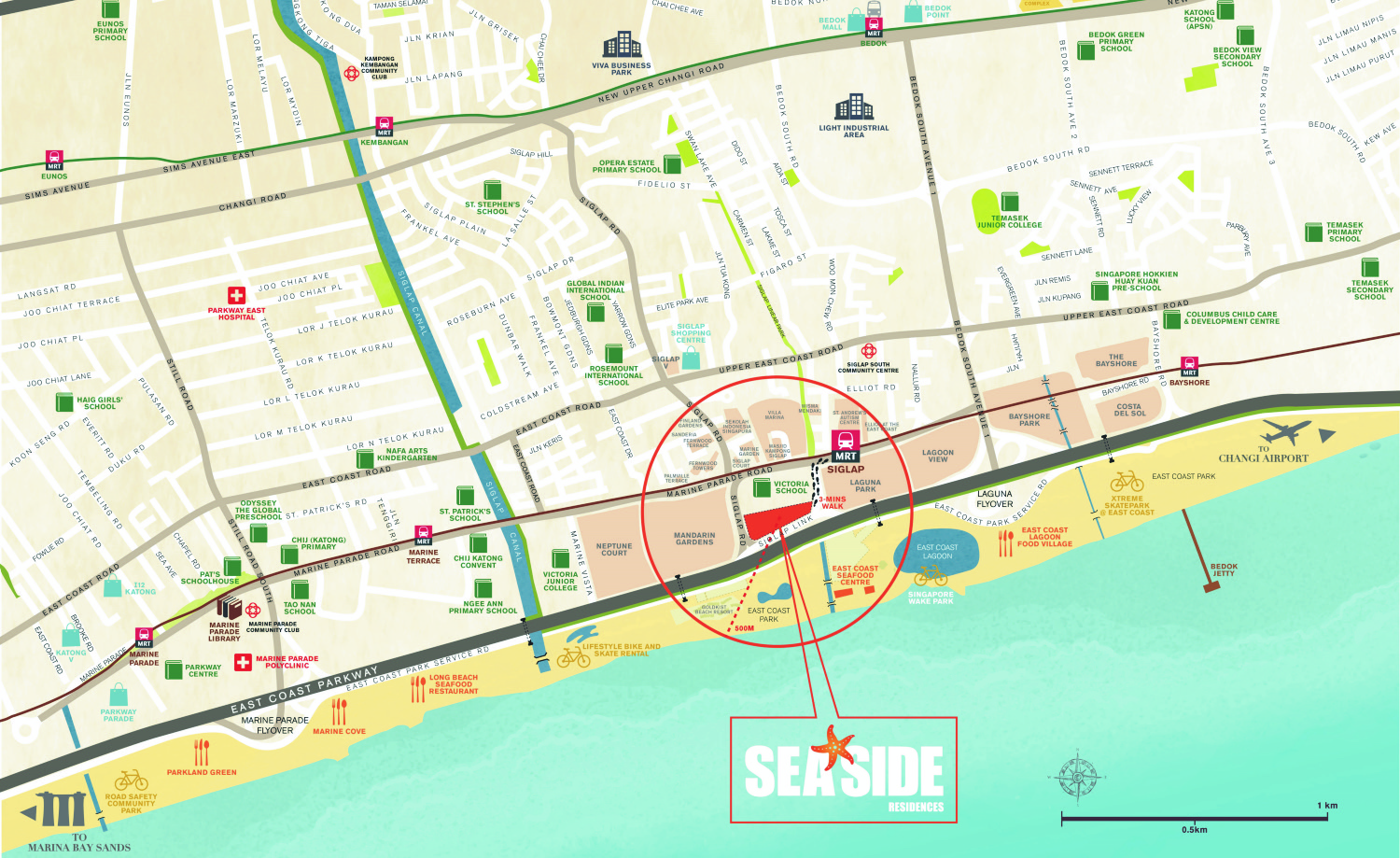 Seaside Residences location