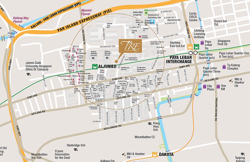 TRE Residences location