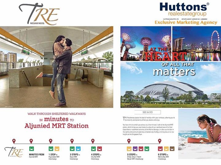 TRE Residences next to MRT