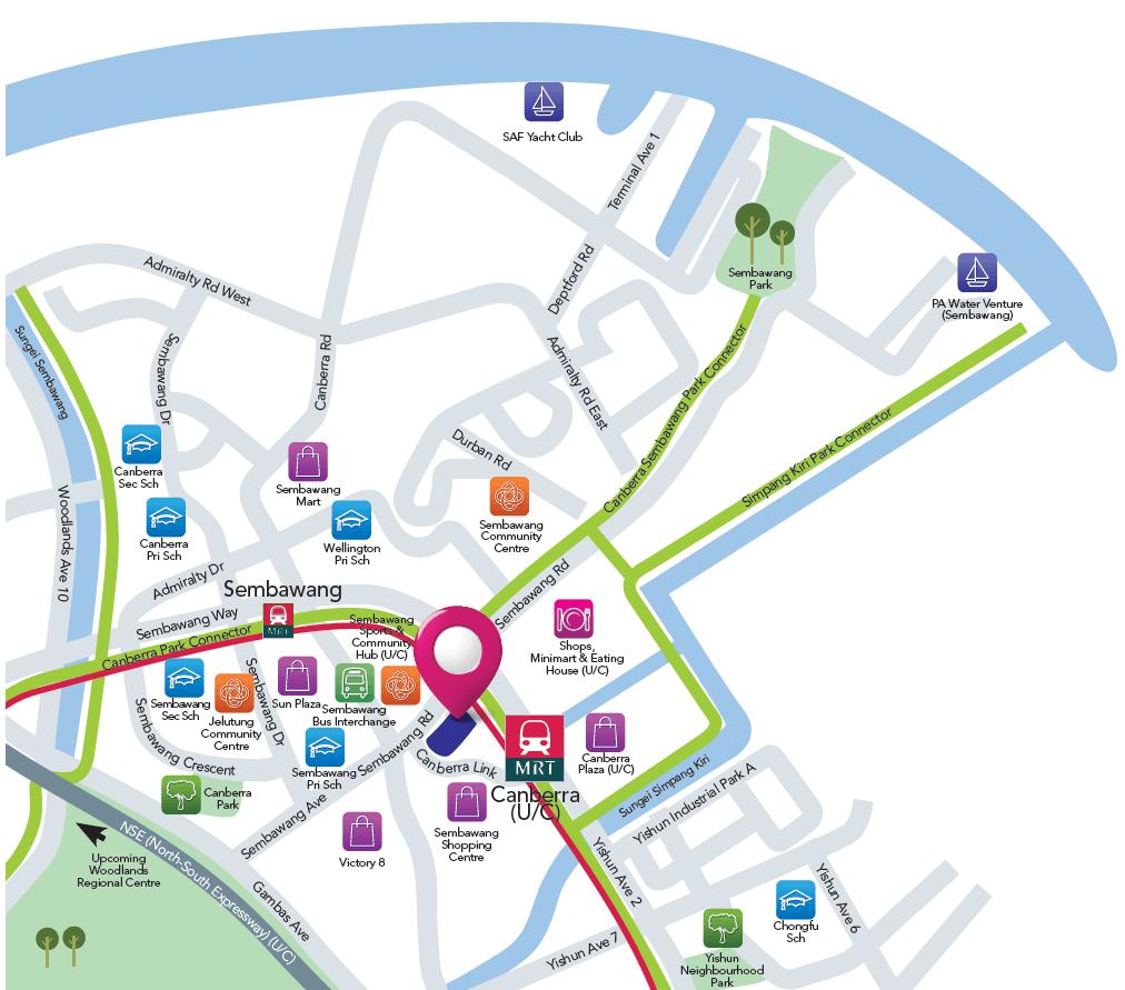 visionaire ec showflat location map