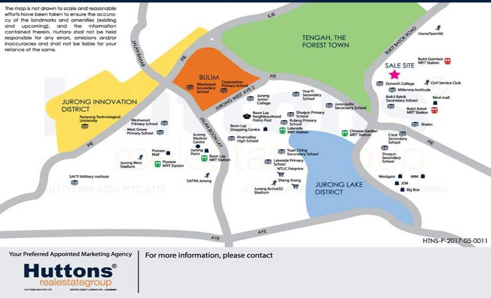 Le Quest Bukit Batok location map