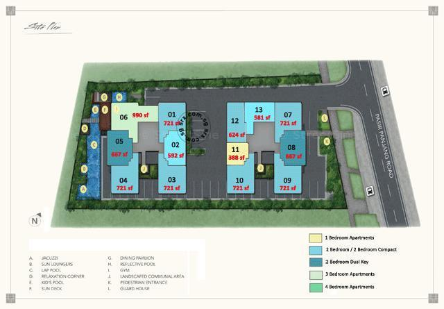 The Orient site plan