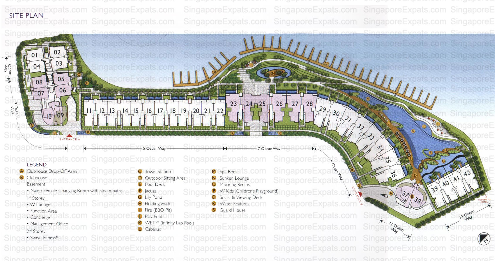 The Residences @ W Sentosa Cove site plan