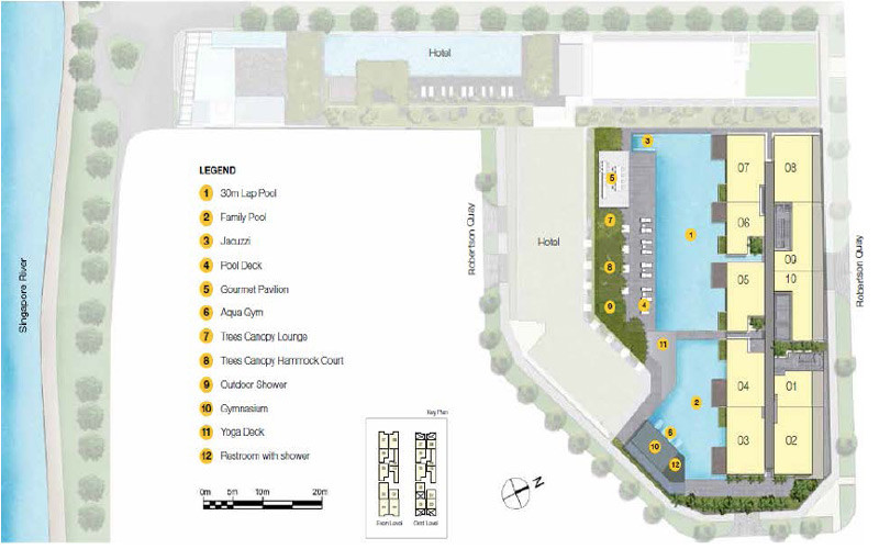 Up at Robertson Quay Site plan