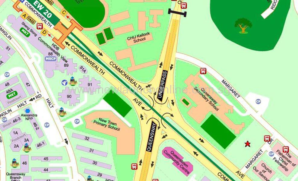 Margaret Drive New Condo-mcl showflat map