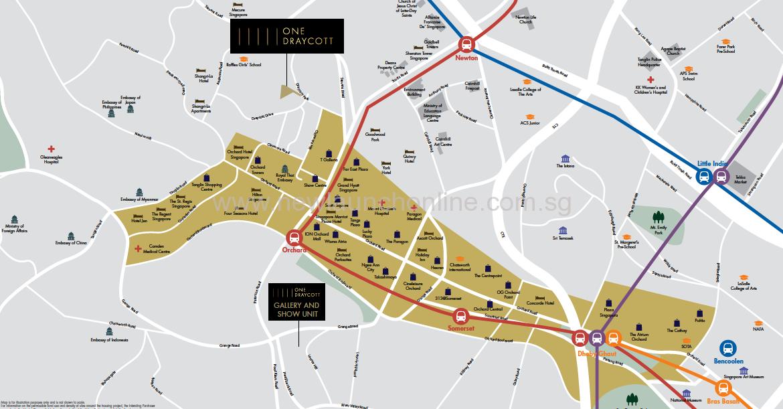 One Draycott location map