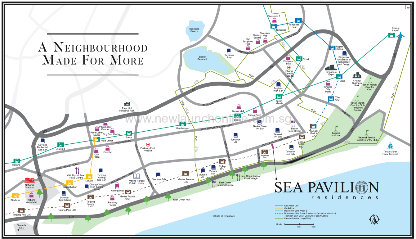 Sea Pavilion Residences location map