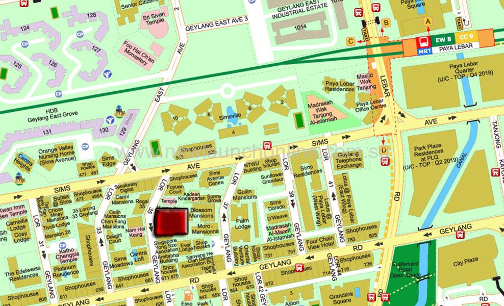 Sixteen 35 Location Map in Geylang by Macly Group