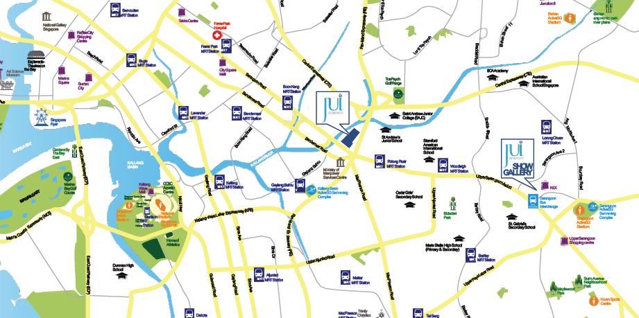 Jui Residences showflat location