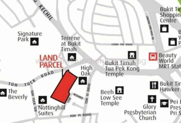 Daintree Residence Location map Toh Tuck Road