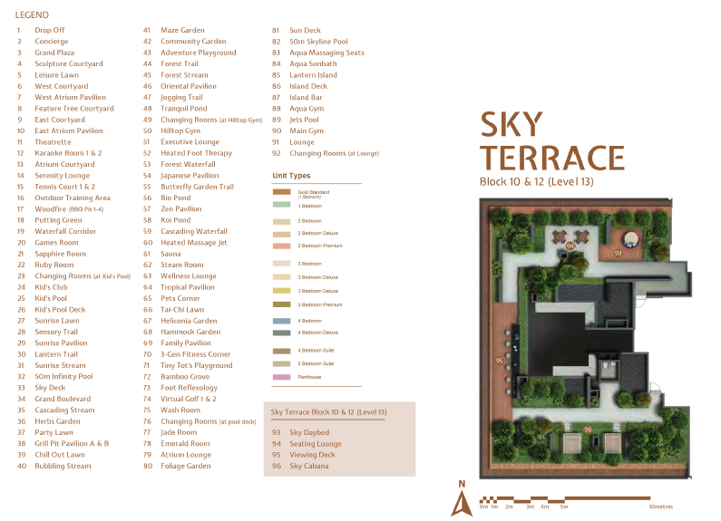 JadeScape sky terrace site plan