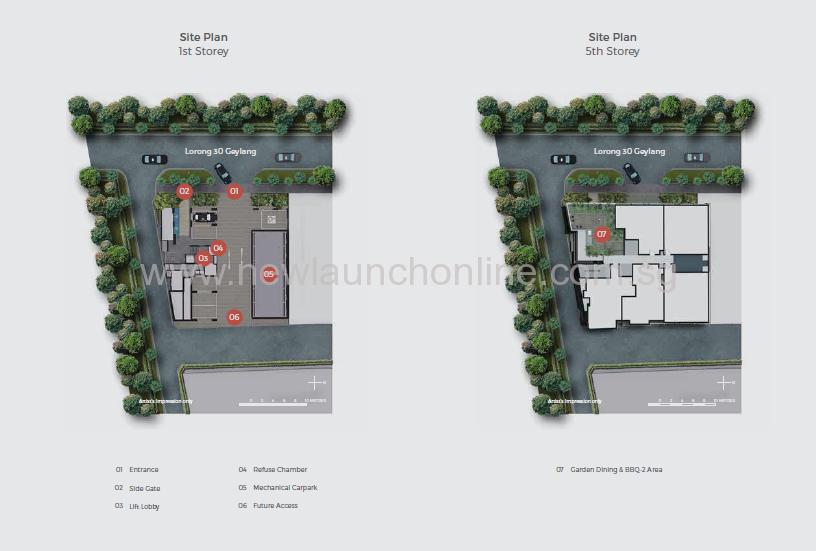 33 residence site plan