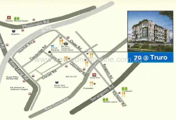 70 truro Location Map